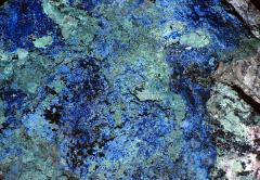 Azurite and Malachite - blue and green mineral abstract