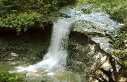 photograph of Blue Hen Falls in the Cuyahoga Valley National Park, Ohio